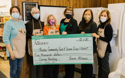 Giving Tuesday: Alliance Bank Gives $20,000